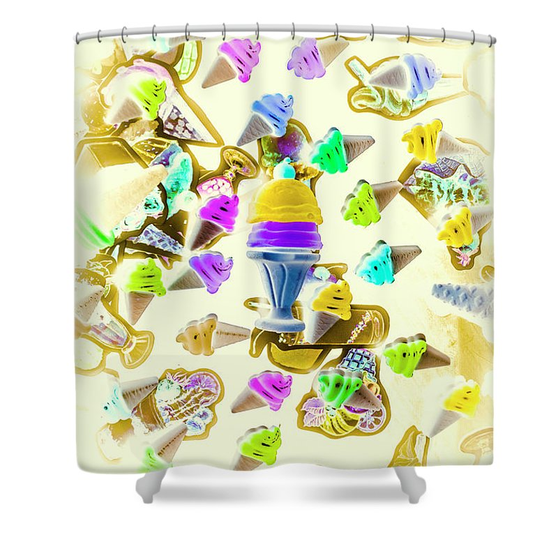 Sweet Shower Curtain featuring the photograph Served Ice-cream Cold by Jorgo Photography - Wall Art Gallery