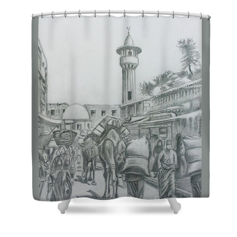 Foodstuff Drawings Shower Curtains
