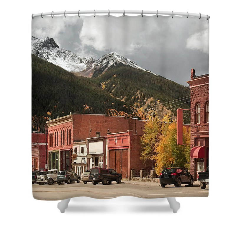 San Juan Mountains Shower Curtain featuring the photograph Silverton, Colorado by Missing35mm