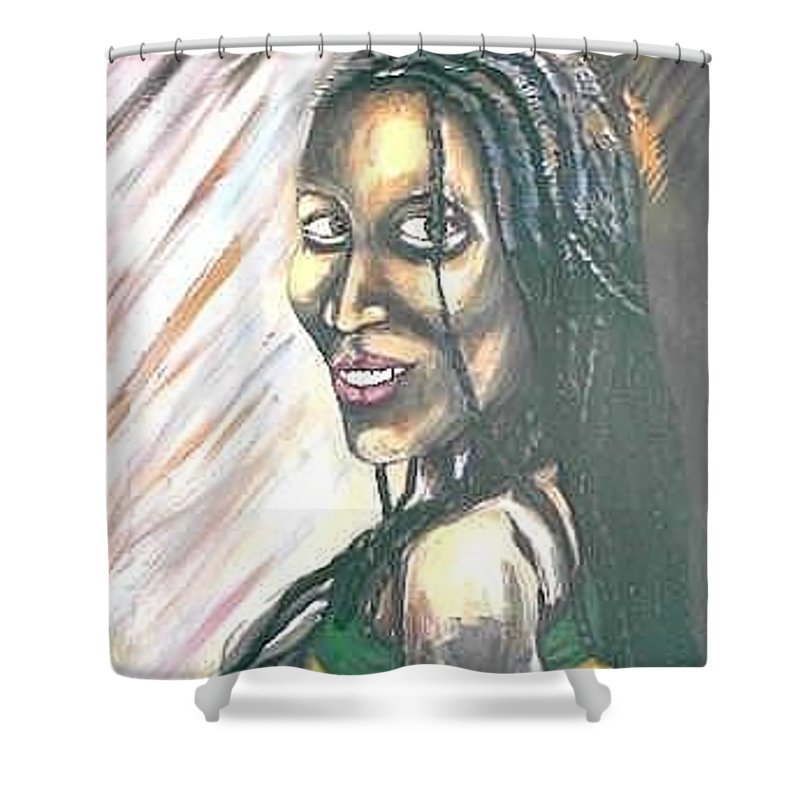 Shower Curtain featuring the painting Sister by Andrew Johnson