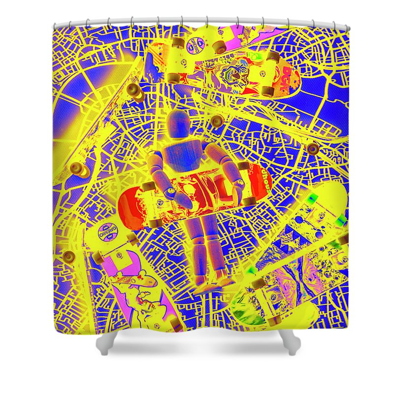 Street Shower Curtain featuring the photograph Skate City by Jorgo Photography - Wall Art Gallery