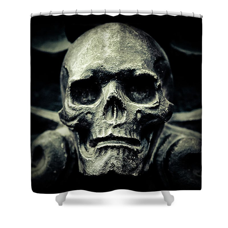 Gothic Style Shower Curtain featuring the photograph Skull by Thepalmer