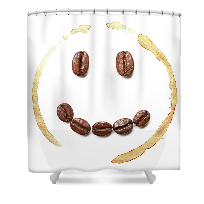 Spray Shower Curtain featuring the photograph Smile Coffee Beans by T kimura