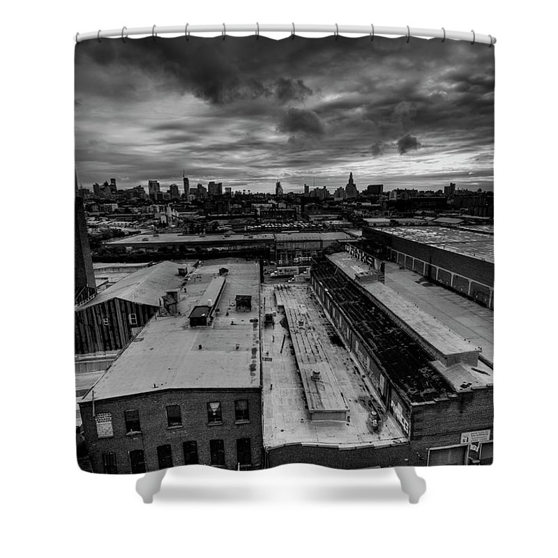Industrial District Shower Curtain featuring the photograph Smith 9th Panorama by Digitalcursor / Miron Kiriliv