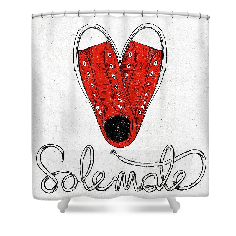 Sole Shower Curtain featuring the painting Sole Mate by Sd Graphics Studio