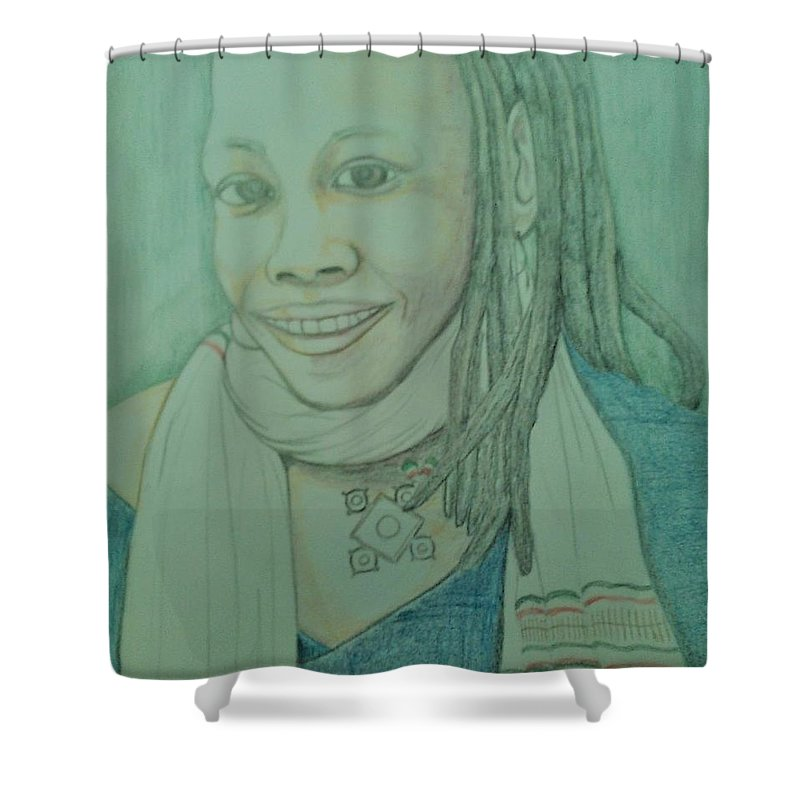 Shower Curtain featuring the drawing SoulJah by Andrew Johnson