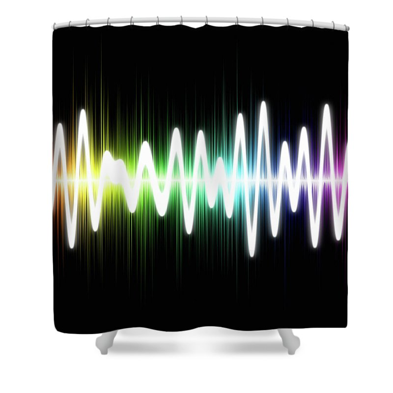 Sound Wave Shower Curtain featuring the photograph Sound Wave by Fotografstockholm