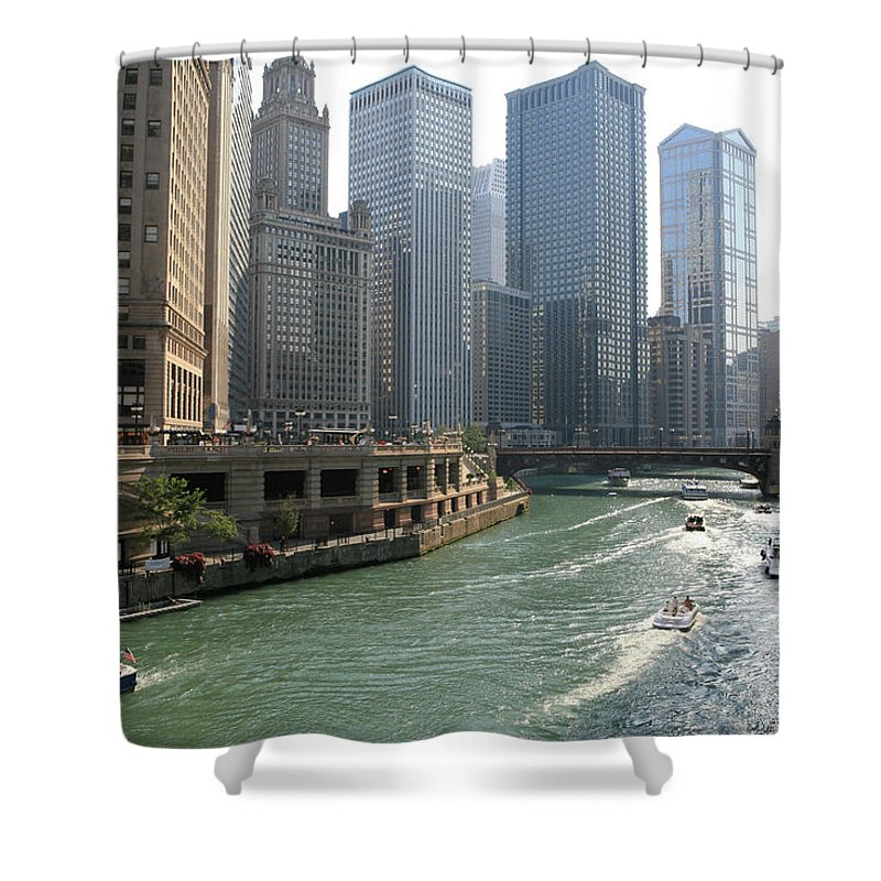 Downtown District Shower Curtain featuring the photograph Spectacular Chicago Downtown by Ekash