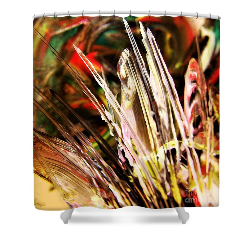 Abstract Shower Curtain featuring the photograph Spires by Nordan Nielsen