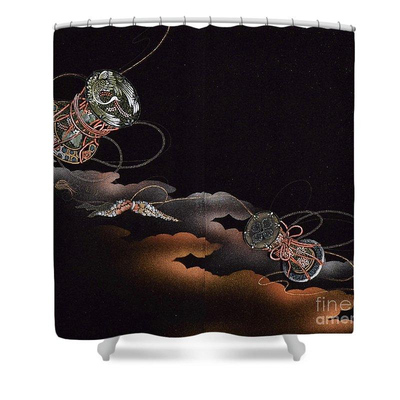 Shower Curtain featuring the digital art Spirit of Japan H23 by Miho Kanamori