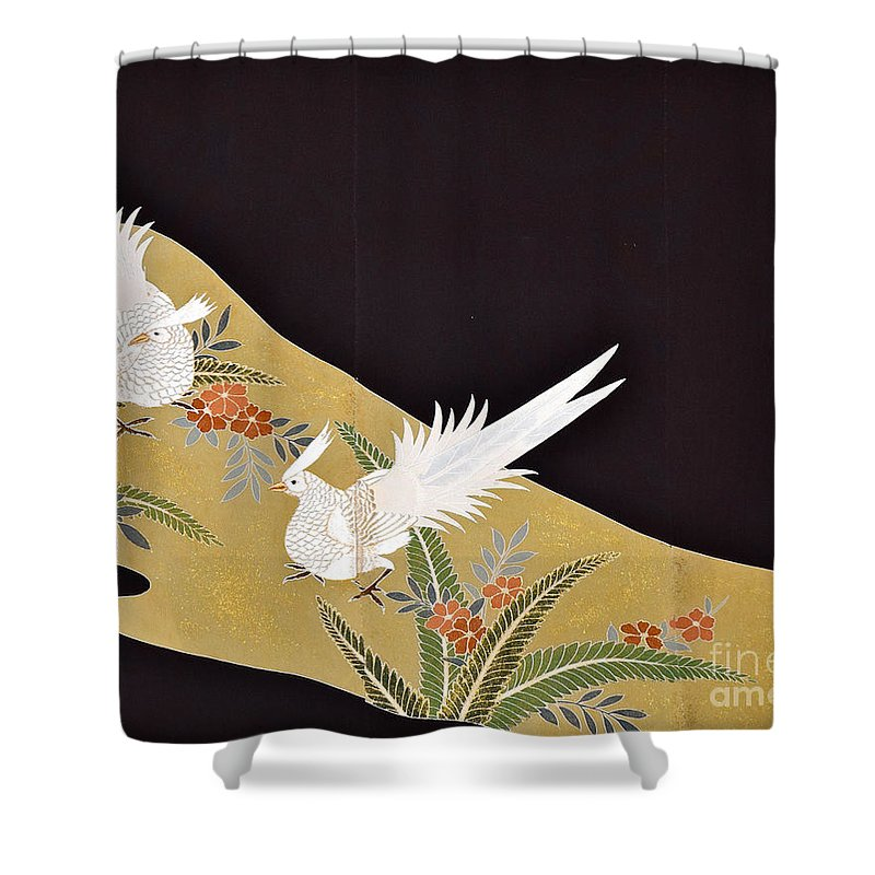 Shower Curtain featuring the digital art Spirit of Japan T28 by Miho Kanamori