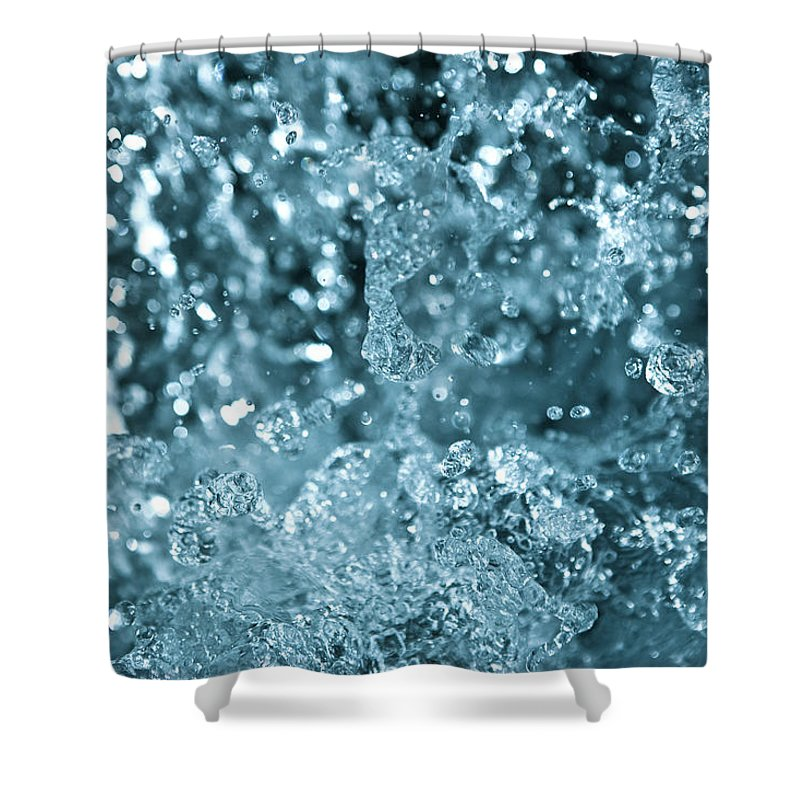 Spray Shower Curtain featuring the photograph Splash From Waterfall by Sindre Ellingsen