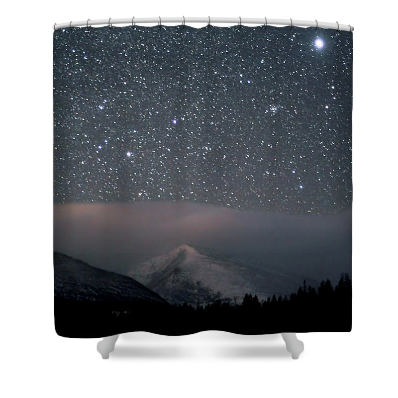 Constellation Shower Curtain featuring the photograph Stars Over Rocky Mountain National Park by Pat Gaines