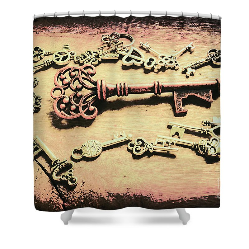 Old Shower Curtain featuring the photograph Stately Design by Jorgo Photography - Wall Art Gallery