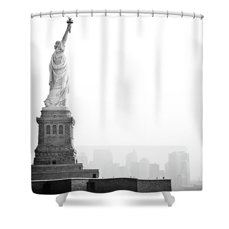 Statue Shower Curtain featuring the photograph Statue Of Liberty by Image - Natasha Maiolo