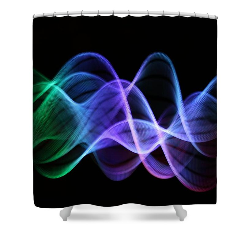 Particle Shower Curtain featuring the photograph Stringlight1 by Merrymoonmary