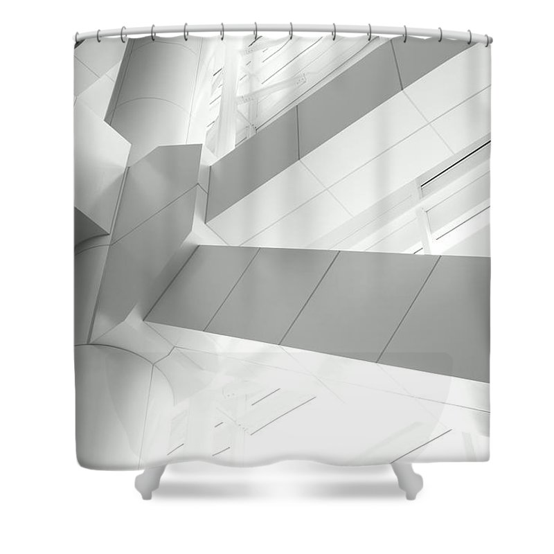 Toughness Shower Curtain featuring the photograph Structural Connection by Blackred
