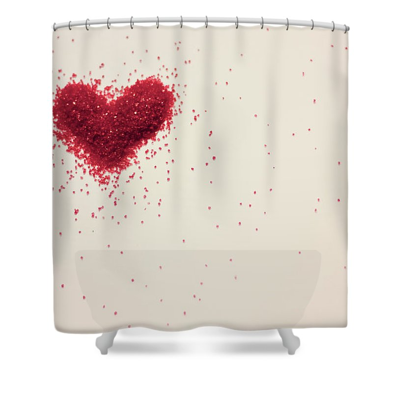 Art Shower Curtain featuring the photograph Sugar Heart by Amy Weekley