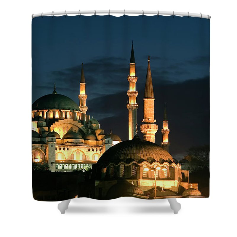 Istanbul Shower Curtain featuring the photograph Suleymaniye Mosque Istanbul by Lebazele