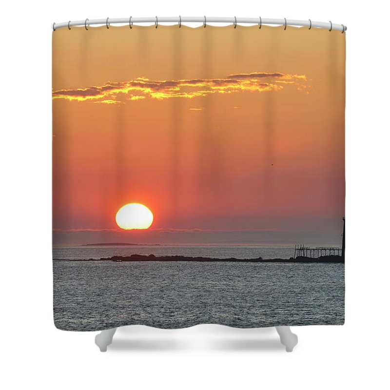 Scenics Shower Curtain featuring the photograph Sunrise by Aimintang