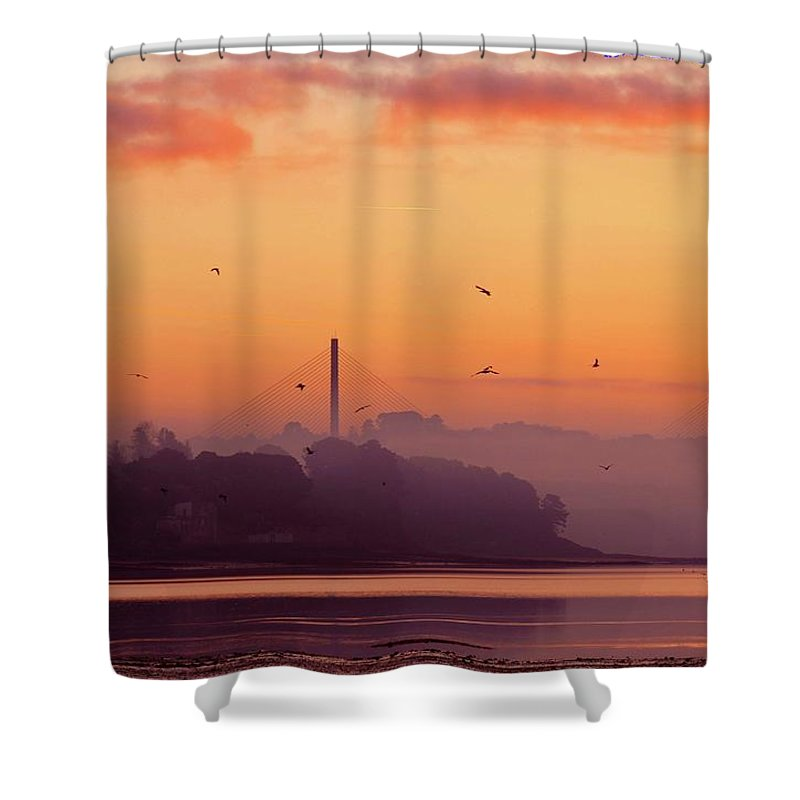 Scenics Shower Curtain featuring the photograph Sunrise by All Images Taken By Keven Law Of London, England.