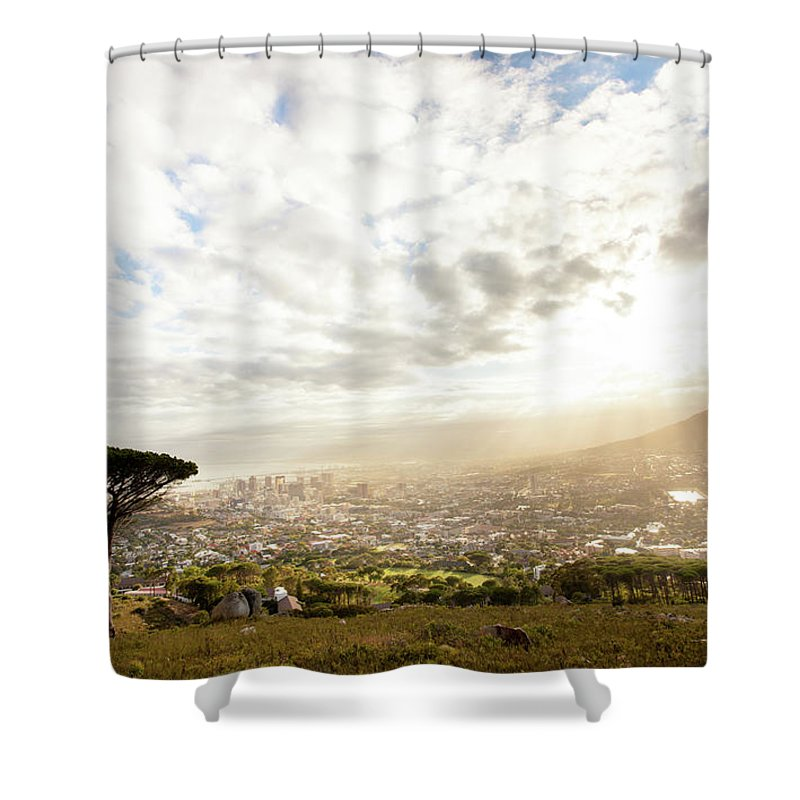Scenics Shower Curtain featuring the photograph Sunrise Over Cape Town South Africa by Epicurean