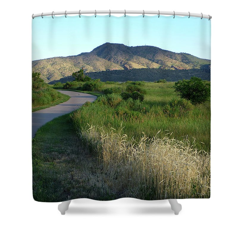 Outdoors Shower Curtain featuring the photograph Sunrise Over State Park Grasslands And by Milehightraveler