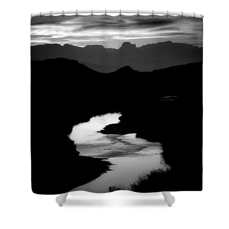 Scenics Shower Curtain featuring the photograph Sunset Over The Rio Grande by Kim Kozlowski Photography, Llc