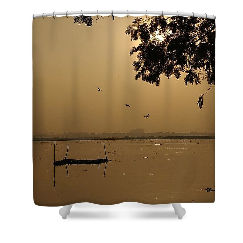 Sunset Shower Curtain featuring the photograph Sunset by Priya Hazra