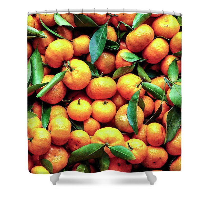 Orange Shower Curtain featuring the photograph Sweet Oranges by Gabriel Perez