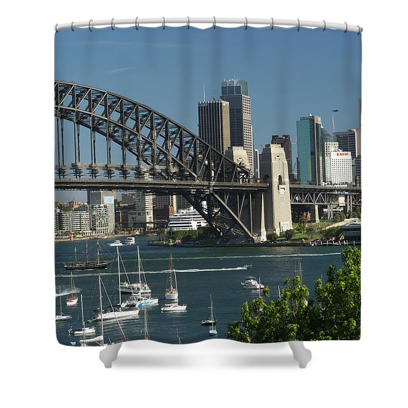 Sydney Harbor Bridge Shower Curtain featuring the photograph Sydney Harbour, New South Wales by Robin Smith