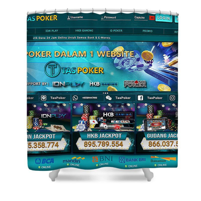 Taspoker Situs Poker Online Bank Bri 24 Jam Indonesia Shower Curtain For Sale By Tas Poker