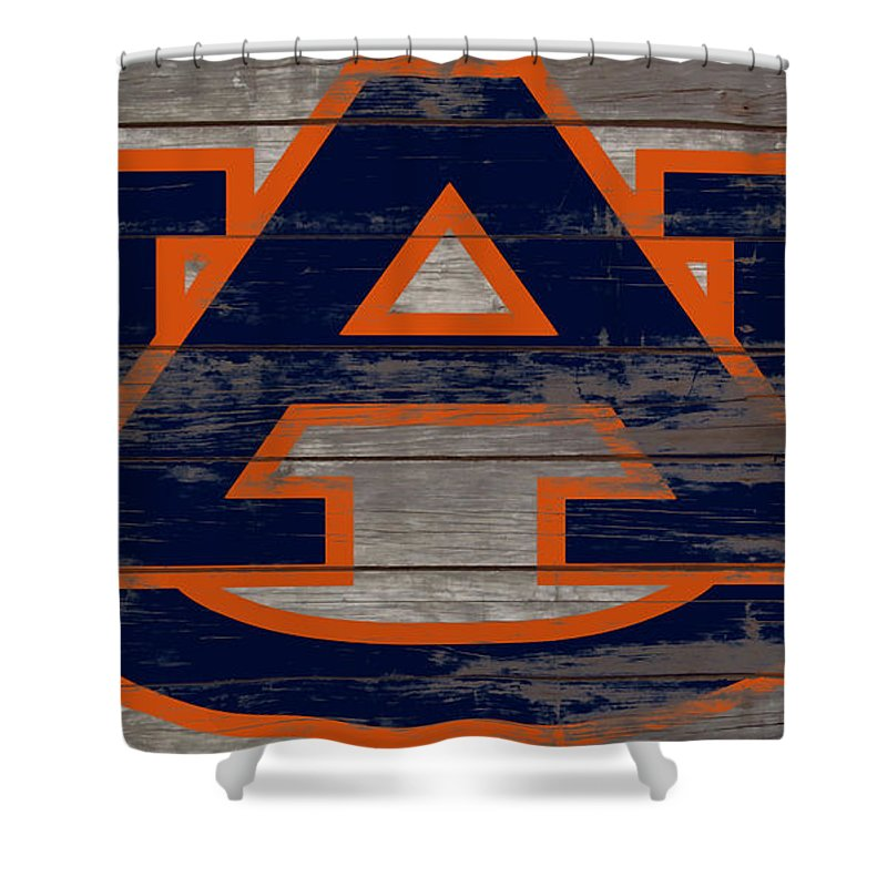 Auburn Tigers Shower Curtain featuring the mixed media The Auburn Tigers 5a by Brian Reaves