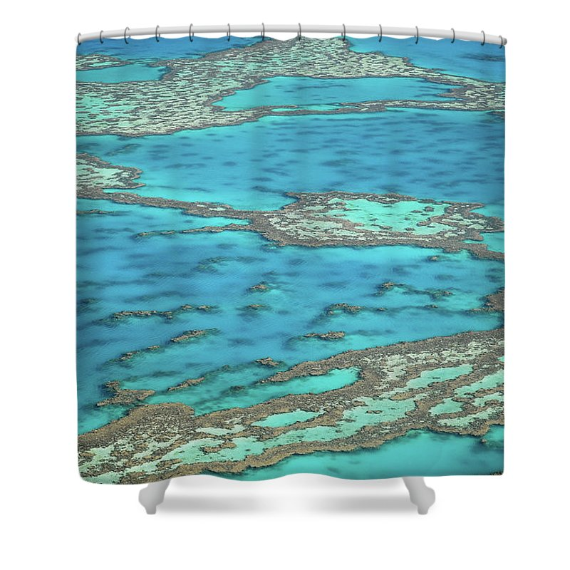 Scenics Shower Curtain featuring the photograph The Big Reef, Whitsunday Islands by Chantal Ferraro