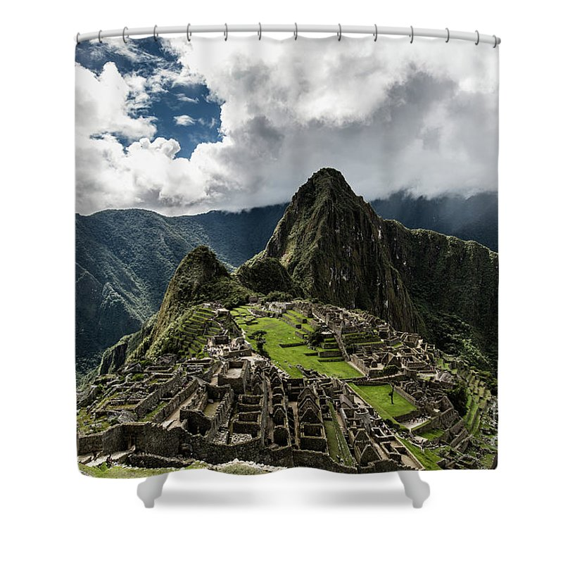 Scenics Shower Curtain featuring the photograph The Inca Trail, Machu Picchu, Peru by Kevin Huang