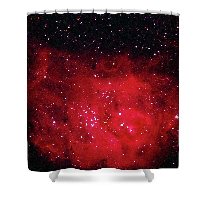 Majestic Shower Curtain featuring the photograph The Lagoon Nebula In Sagittarius by A. V. Ley