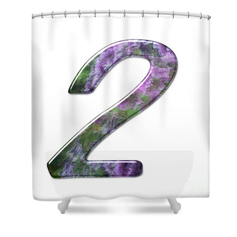 Two Shower Curtain featuring the photograph The Number Two by Humorous Quotes