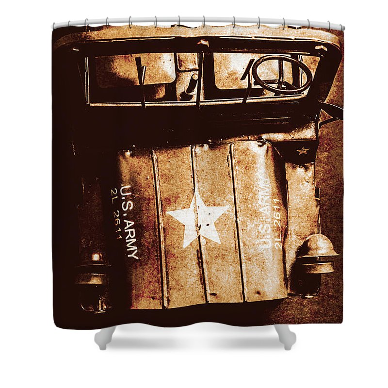 Military Vehicle Shower Curtains