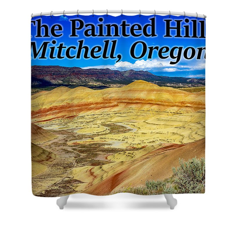 The Painted Hills Shower Curtain featuring the photograph The Painted Hills Mitchell Oregon by G Matthew Laughton