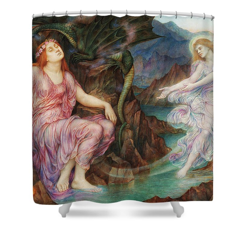 Evelyn De Morgan Shower Curtain featuring the painting The Passing Of The Soul At Death, 1919 by Evelyn De Morgan