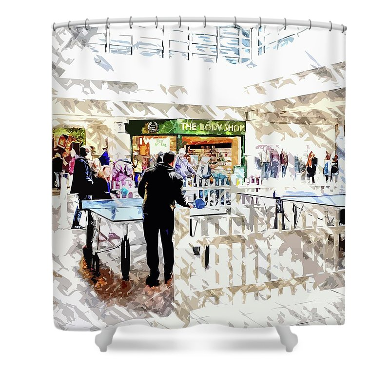 Shopping Shower Curtain featuring the photograph The Shopping Centre by Nigel Dudson