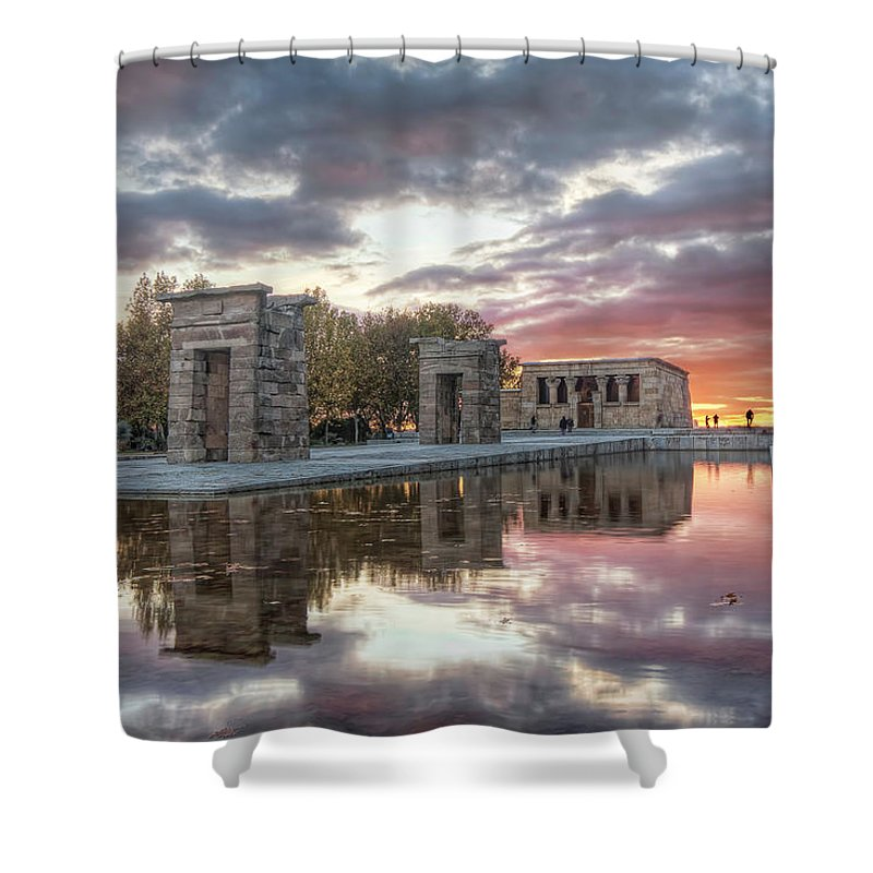 Arch Shower Curtain featuring the photograph The Twilight Of The Gods by Servalpe