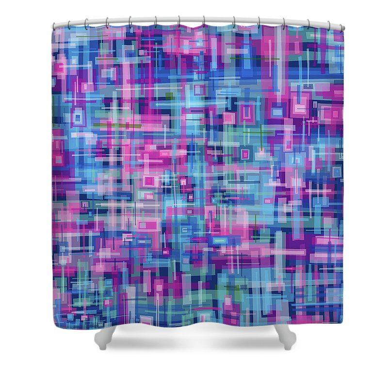 Nonobjective Shower Curtain featuring the digital art Thought Patterns #4 by James Fryer