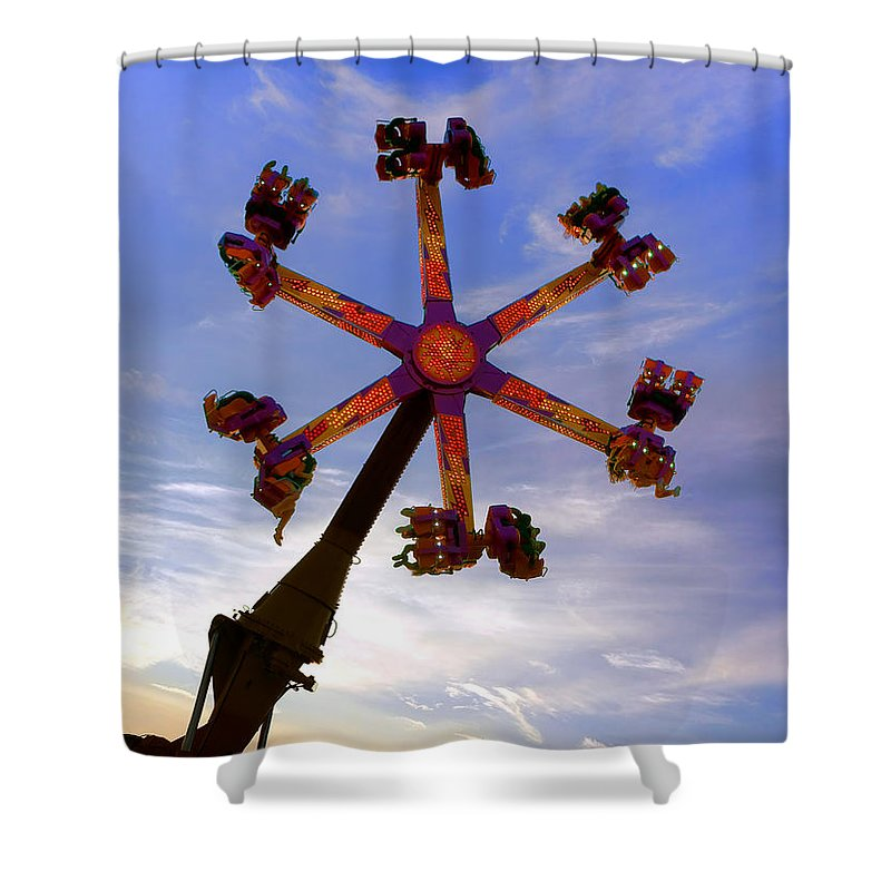 Thrill Shower Curtain featuring the photograph Thrill Ride by Olivier Le Queinec