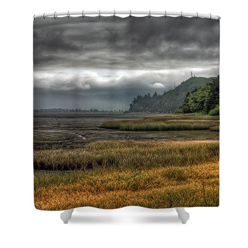 Scenics Shower Curtain featuring the photograph Tillamook Estuary by Photo By Ryan J. Zeigler