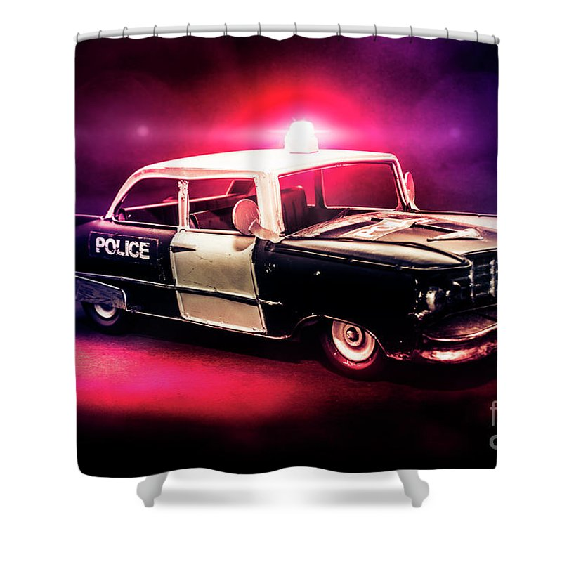 Retro Shower Curtain featuring the photograph Tin Force by Jorgo Photography - Wall Art Gallery