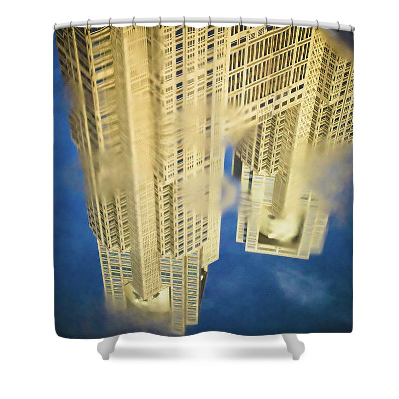 Outdoors Shower Curtain featuring the photograph Tokyo Metropolitan Government Building by Pablo Bonfiglio