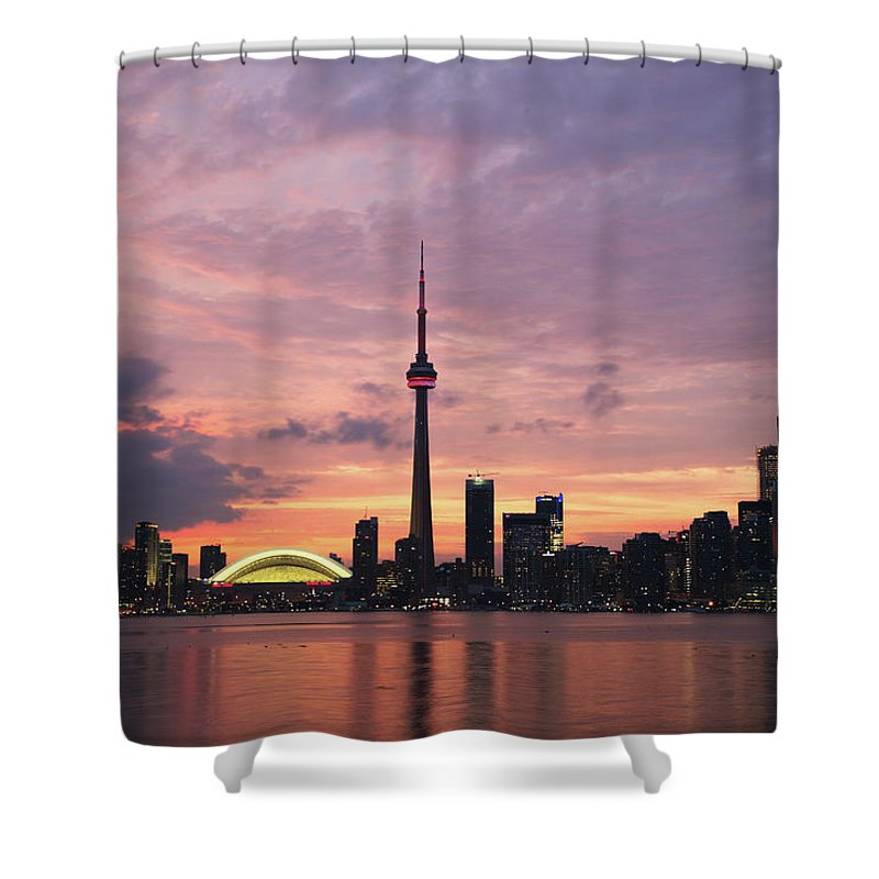 Lake Ontario Shower Curtain featuring the photograph Toronto by Js`s Favorite Things
