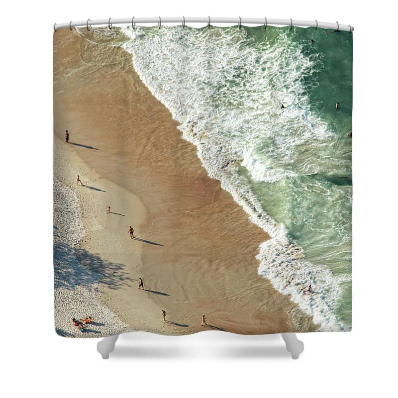 Water's Edge Shower Curtain featuring the photograph Tranquilidade by Antonello