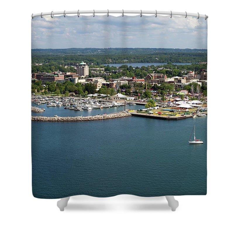 Lake Michigan Shower Curtain featuring the photograph Traverse City, Michigan by Ct757fan